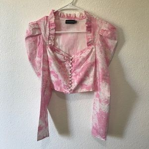 Pretty little thing pint printed ruched button too